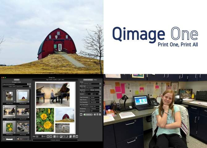 Collage of 4 pictures in a Qimage One Review