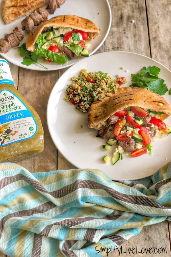 Beef Shish Kabob Pita Sandwich
