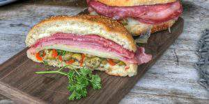 New Orleans Hot Muffuletta Sandwich Recipe