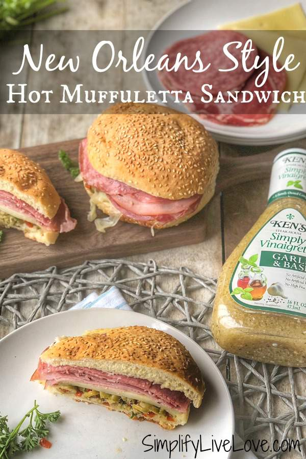 Pining for New Orleans? This Hot Muffuletta Sandwich Recipe is perfect! It's quick to make and delicious to eat. Add these ingredients to your shopping list and enjoy the wonderful flavors of New Orleans you'll experience with this Central Grocery Muffuletta Recipe.