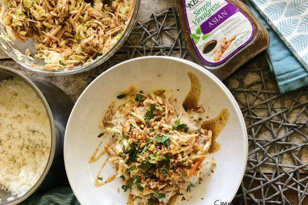 Instant Pot Pulled Pork Asian Rice Bowls