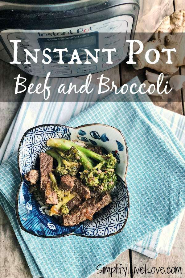 Better than takeout and healthier too! This easy beef and broccoli instant pot recipe is ready in 20 minutes! Treat your family to healthier Chinese food with this family friendly recipe.