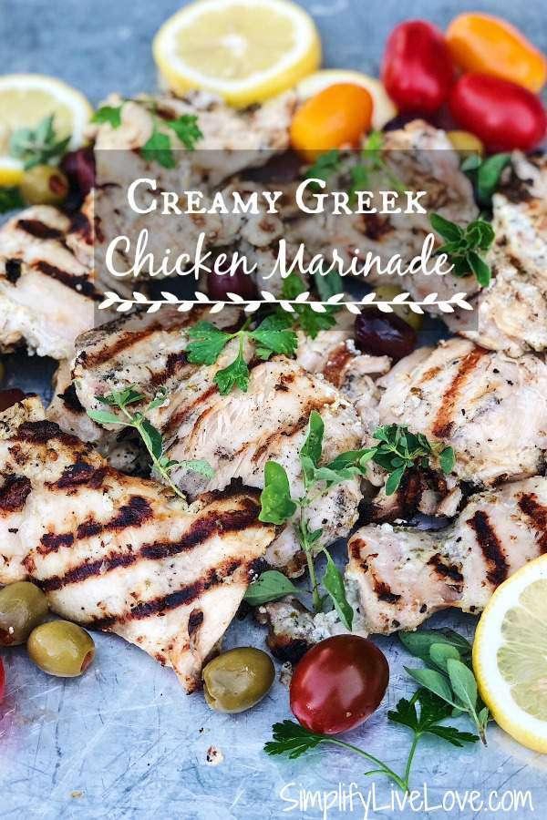 the best chicken marinade for greek grilled chicken
