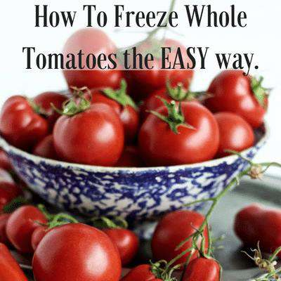how to freeze whole tomatoes