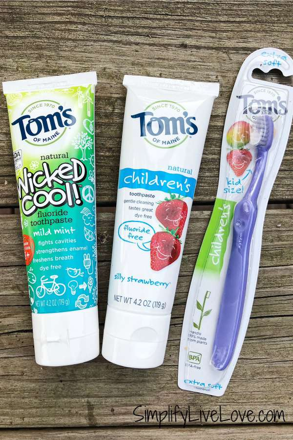 tom's of maine natural tooth care products for kids