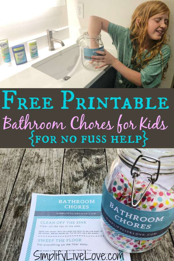 Keep your kids and bathroom stink free! Grab this easy DIY to get kids to clean their own bathroom fuss free, and get our top pick for an effective and natural deodorant for kids. #ad #diychorefreeprintable #deodarantforkids #greenliving