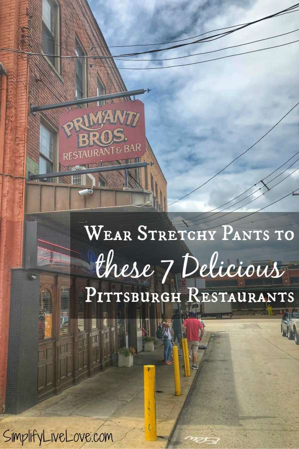 Primanti Bros Pittsburgh Strip District Restaurants wear stretchy pants