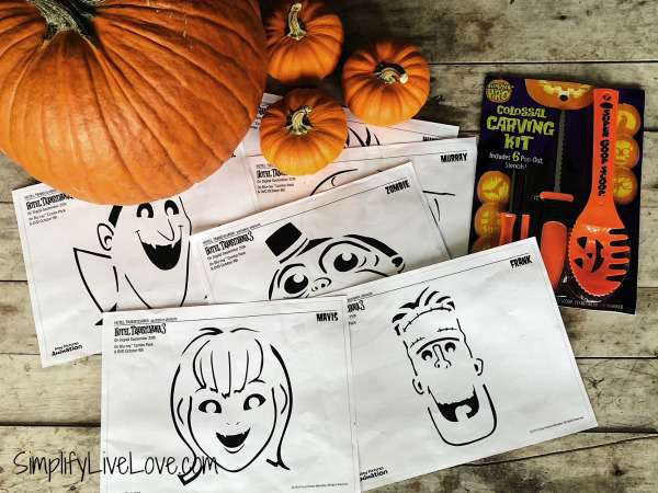 Free Pumpkin Carving Patterns Hotel Transylvania 3
