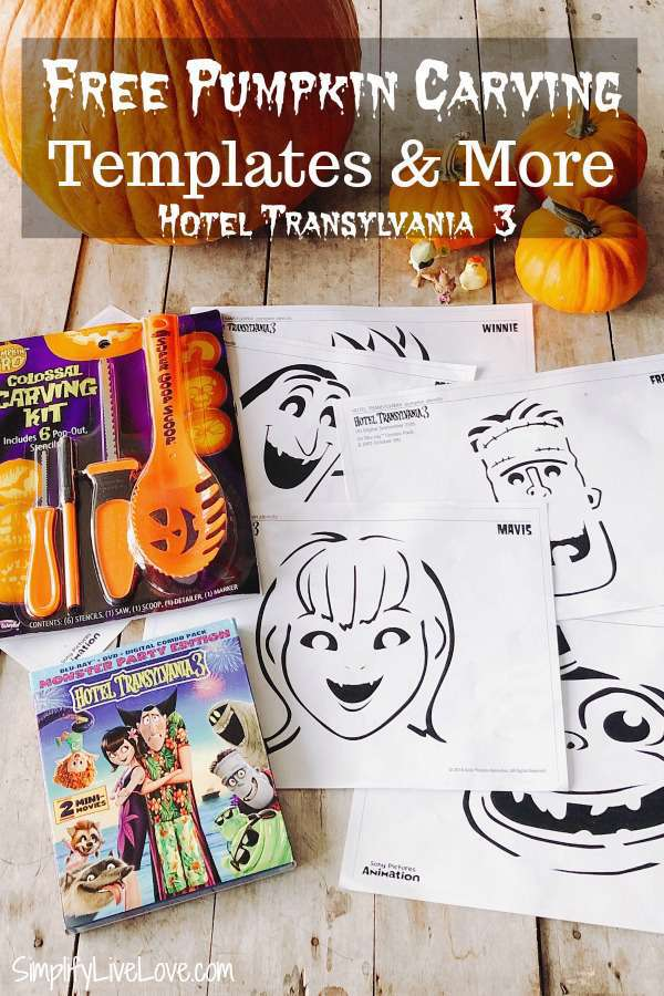 Hotel Transylvania 3 Free Pumpkin Carving Patterns