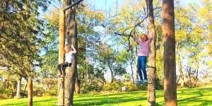 kids on a swingset