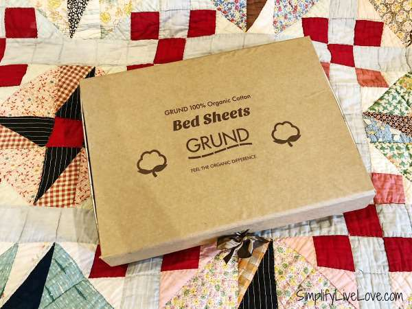 organic cotton sheets from Grund