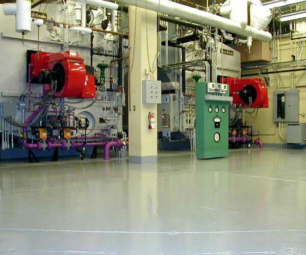 green hospital mechanical room