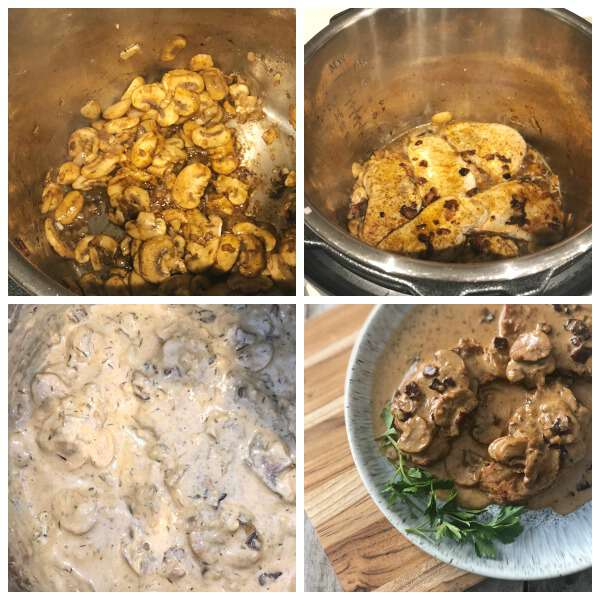 step for making keto pork chops in the instant pot