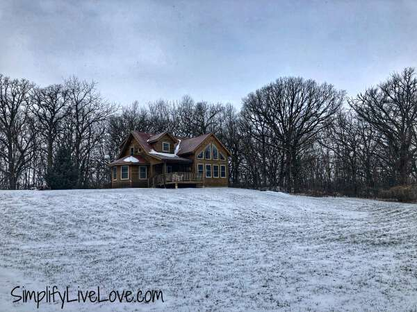 winter glamping at Red Cedar Lodge in Charles City, Iowa
