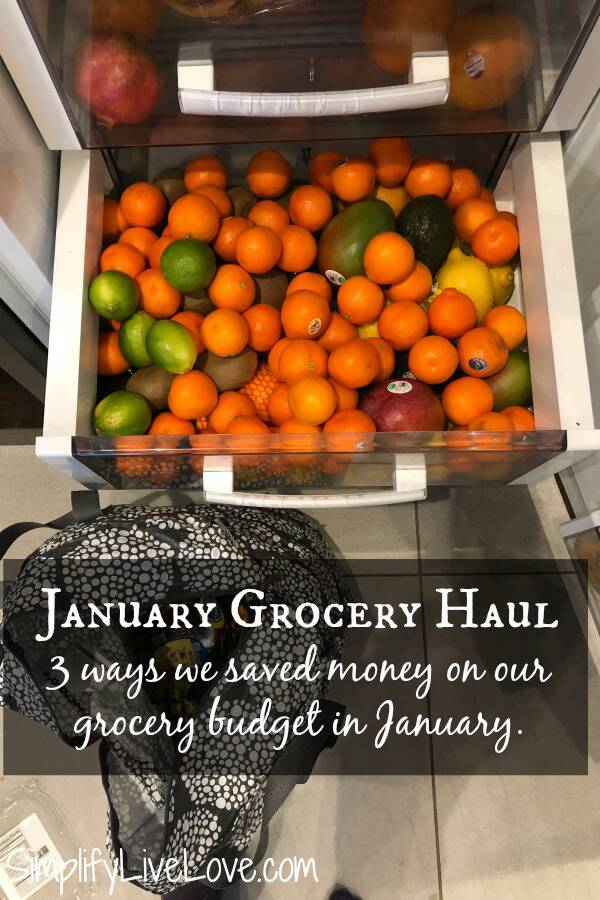 January Grocery Budget Report - The Monthly Grocery Haul