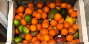 fridge full of fruit - January grocery budget