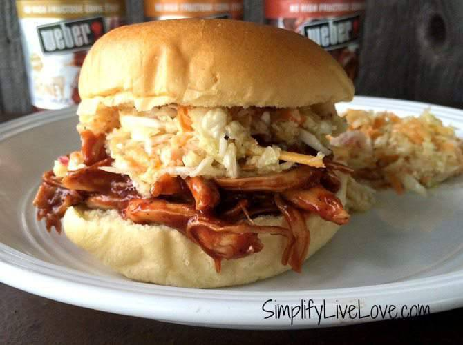 BBQ Pulled Chicken Sandwich with Cole Slaw Recipe