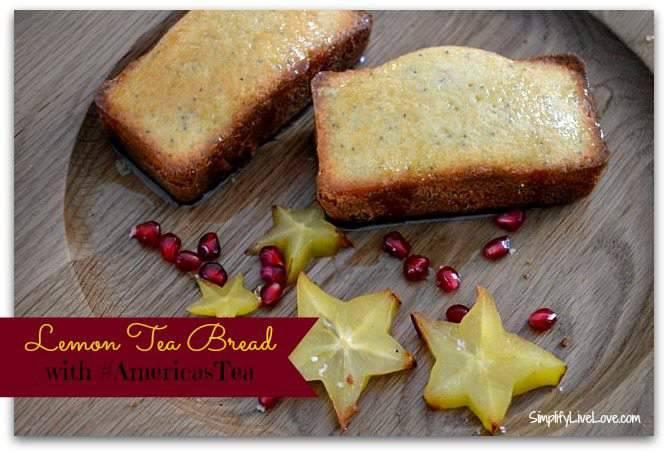 Lemon Tea Bread with #AmericasTea