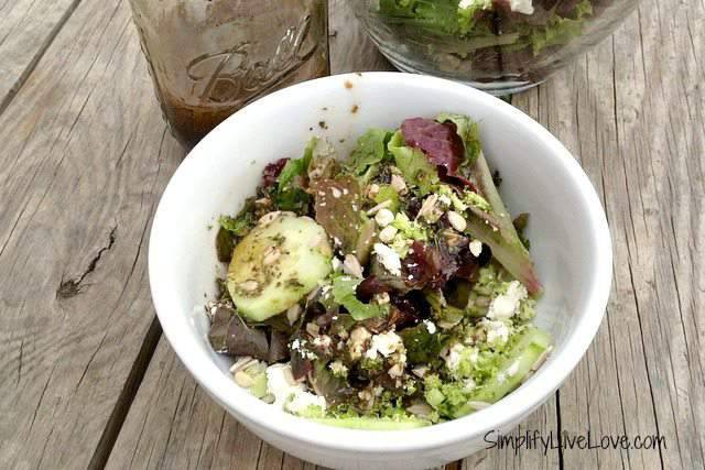 Tossed Salad with Broccoli, Feta & Sunflower Seeds :: Recipe