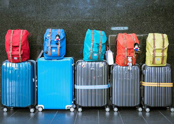 row of suitcases