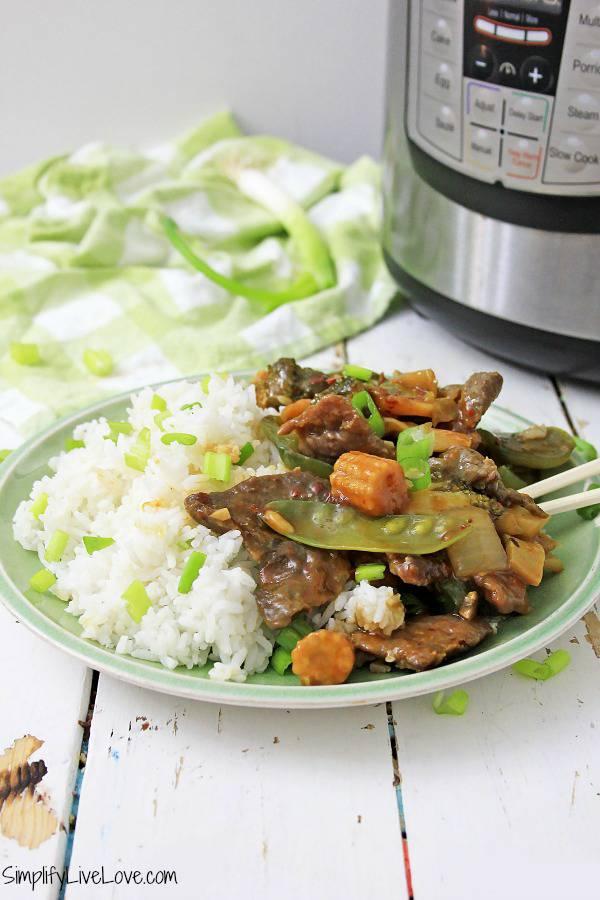 instant pot garlic beef