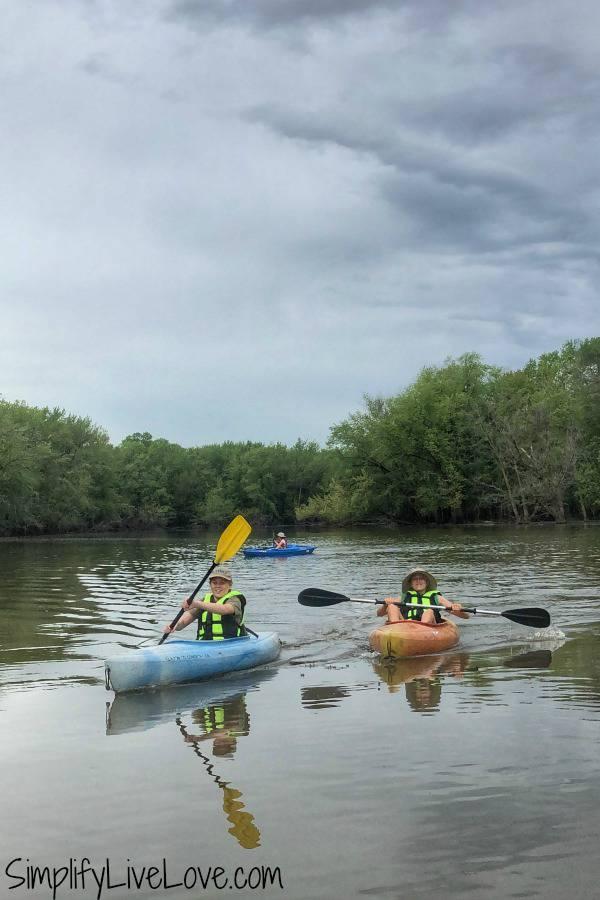 kayaks at rock creek marina