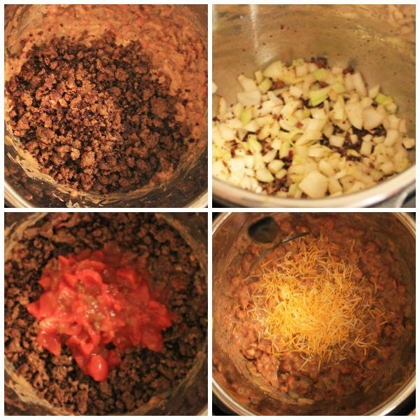 steps to making the instant pot taco dip