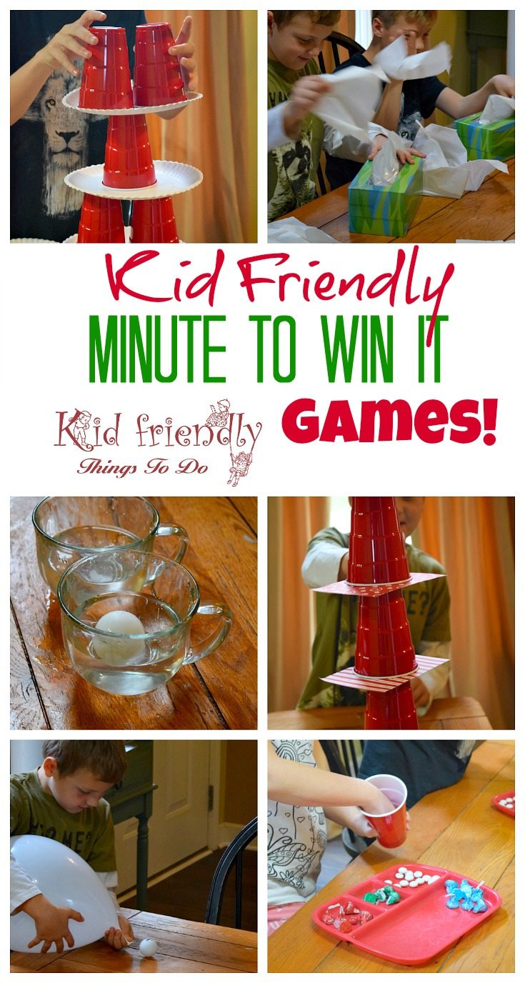 Kid Friendly Easy Minute To Win It Games for Your Party {The Best!}