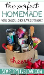 homemade wine gift basket