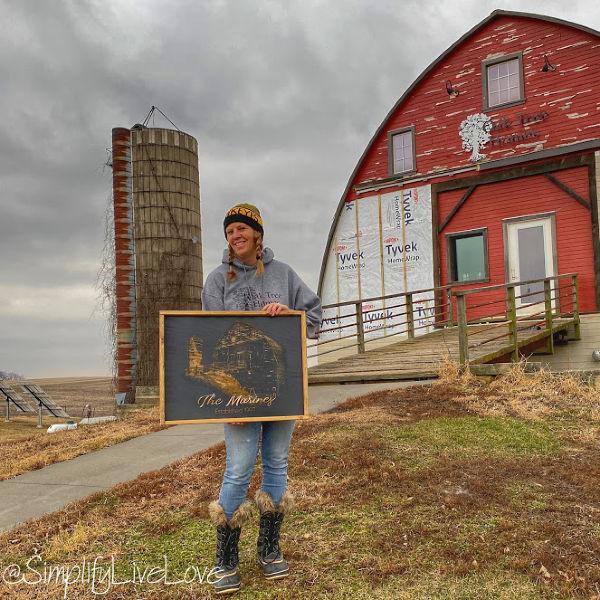 carver's ridge custom engraved barn sign