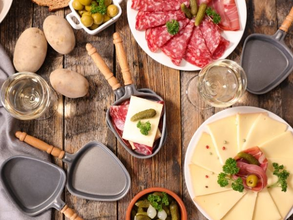 raclette cheese dinner party