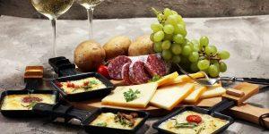 raclette dinner spread
