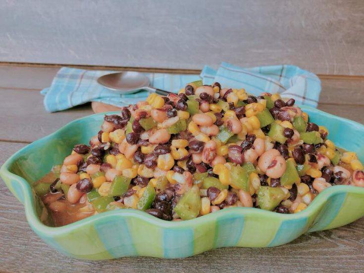 Southwestern Black Bean and Black Eyed Peas Salad Recipe