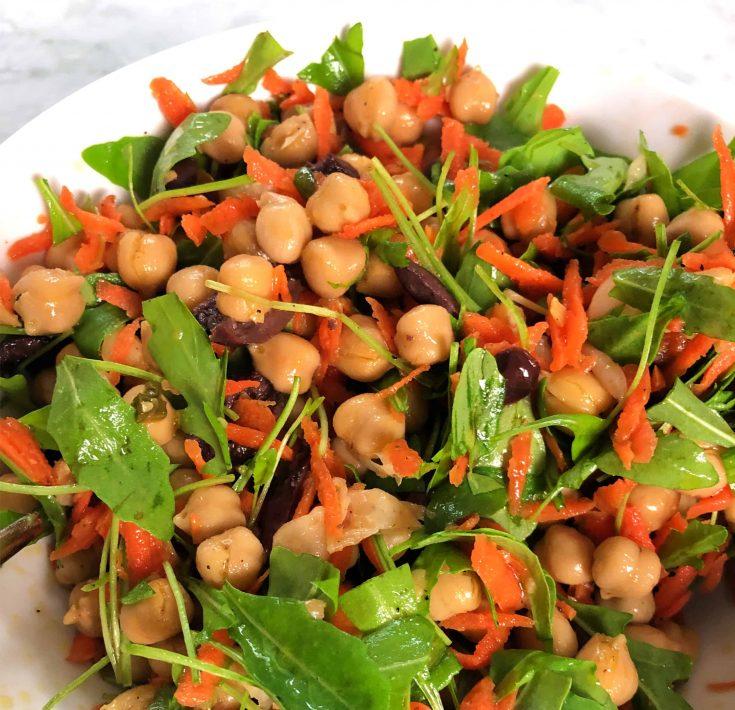 Chickpea, Carrot and Arugula Salad
