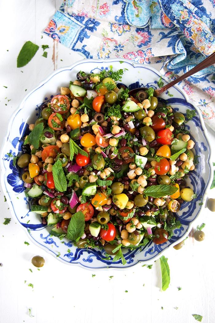 Mediterranean Chickpea Salad Recipe - The Suburban Soapbox