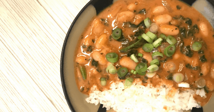 Easy Vegan Thai Greens and Beans Curry Recipe