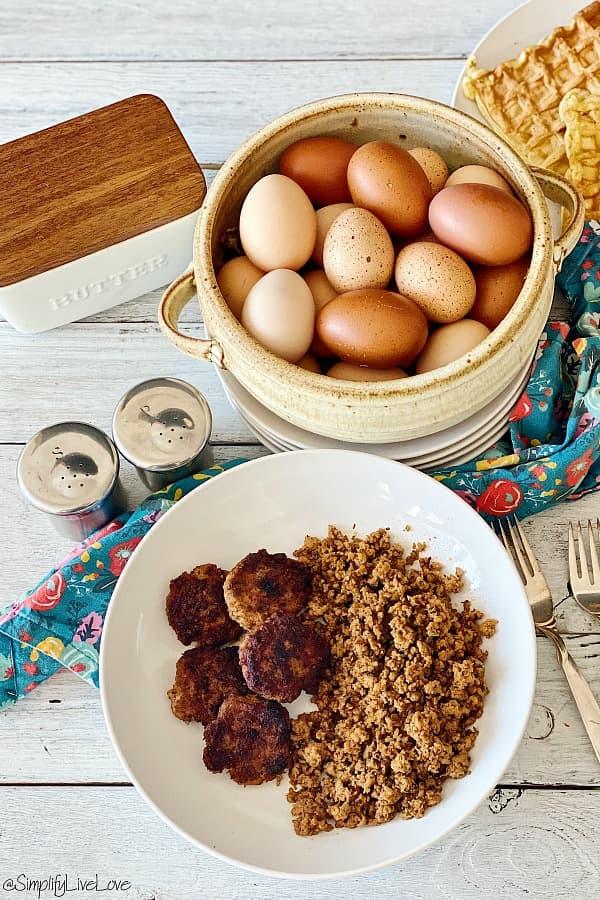homemade breakfast sausage two ways