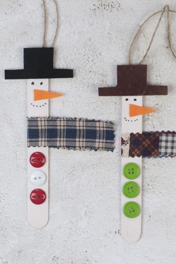 2 snowmen ornaments