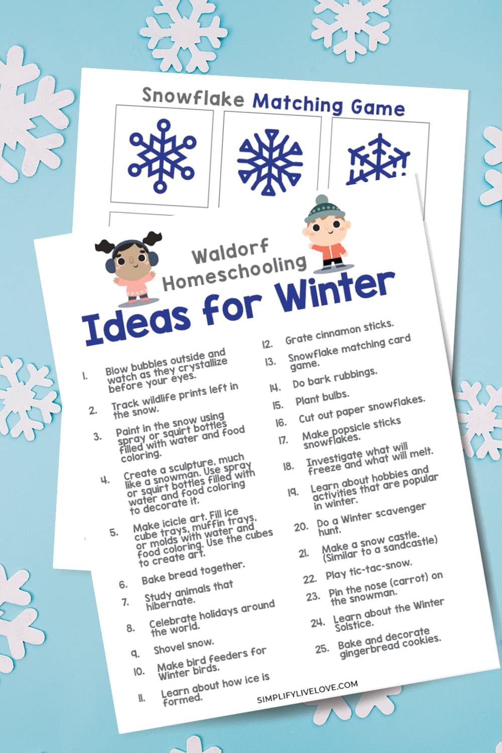 Homeschool Ideas for Winter