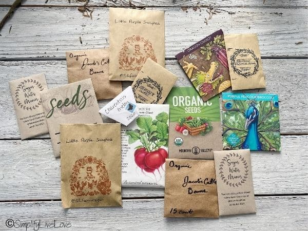 garden seeds from an online seed exchange