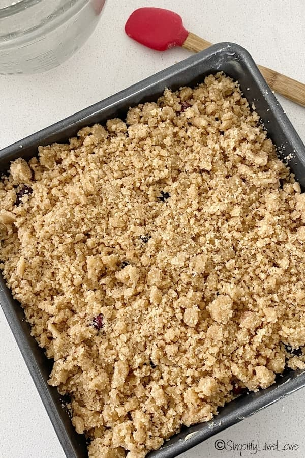 sourdough crumb cake ready for oven (1)